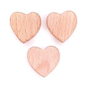 Houten kralen hart vorm