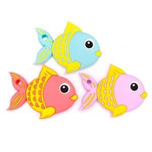 Siliconen bijtring bijtfiguur hanger vissen overzicht