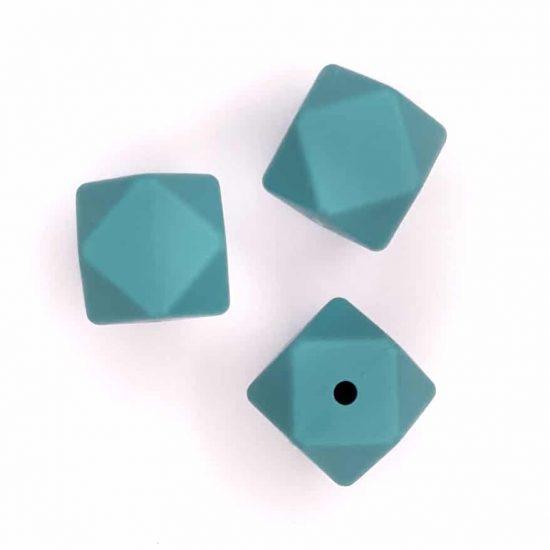 Siliconen kralen - Hexagon - 14 mm