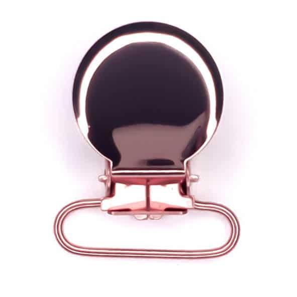 Speenclip metaal rosé goud koper
