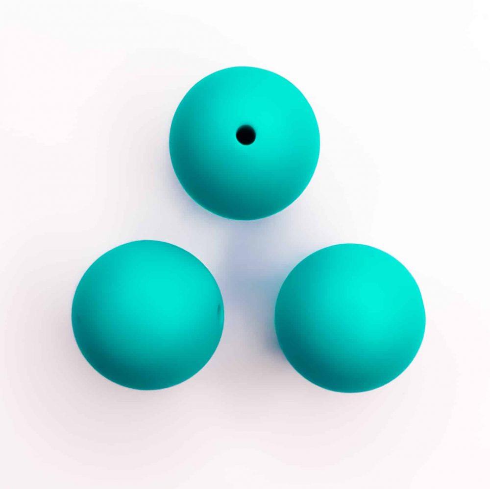Turquoise siliconen kralen bpa vrij 16 mm
