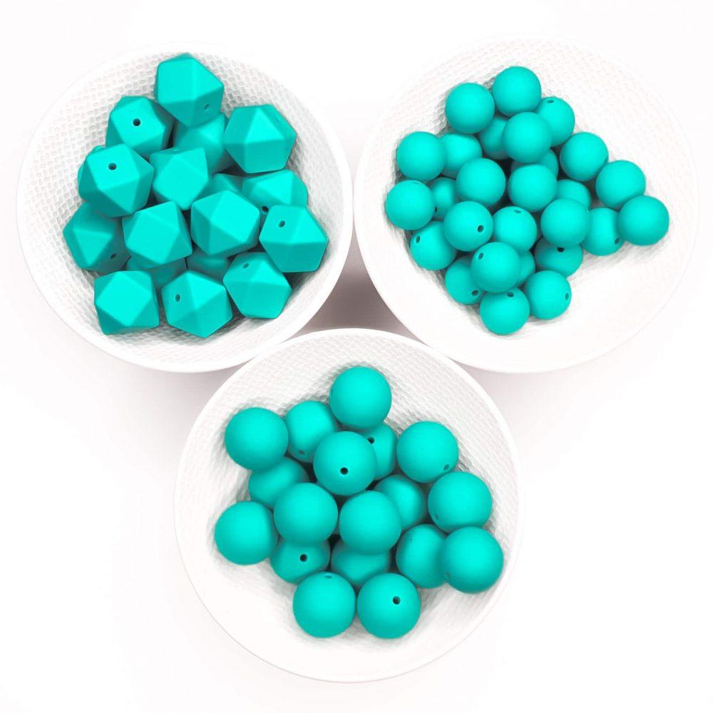 Turquoise siliconen kralen bpa vrij