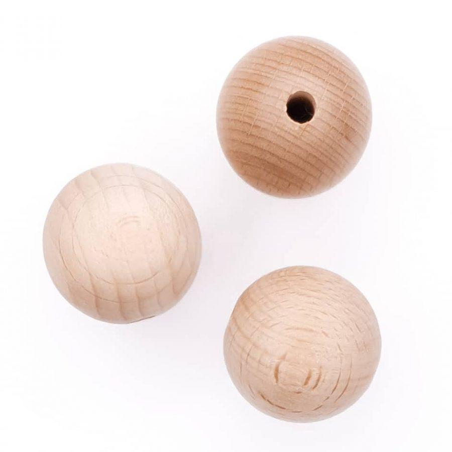 Beuken houten kraal 20 mm gepolijst babyspeelgoed bijtring speenkoord wagenspanner