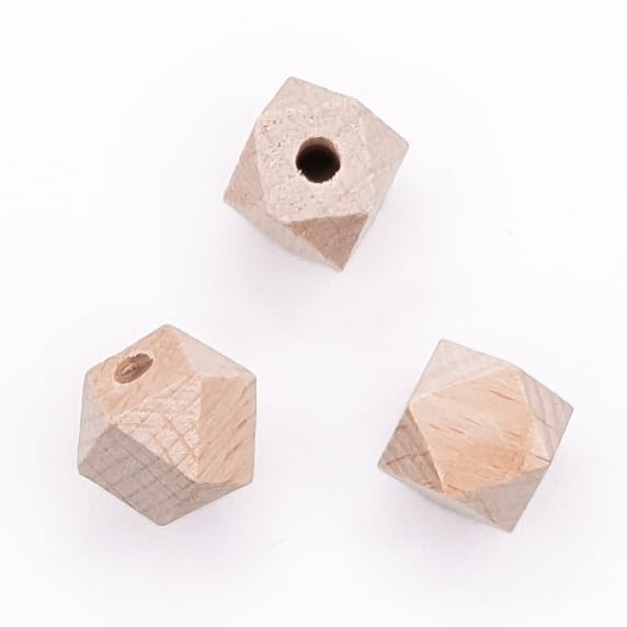 Beukenhout hexagon 12 mm baby bijtring speenkoord bijtspeelgoed wagenspanner NEN