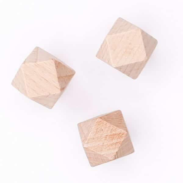 Beukenhout kraal hexagon 20 mm baby bijtspeelgoed NEN CE veilig baby bijtring wagenspanner speenkoord