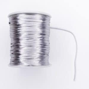 Satijnkoord 1,5 mm zilver speenkoord bijtring wagenspanner