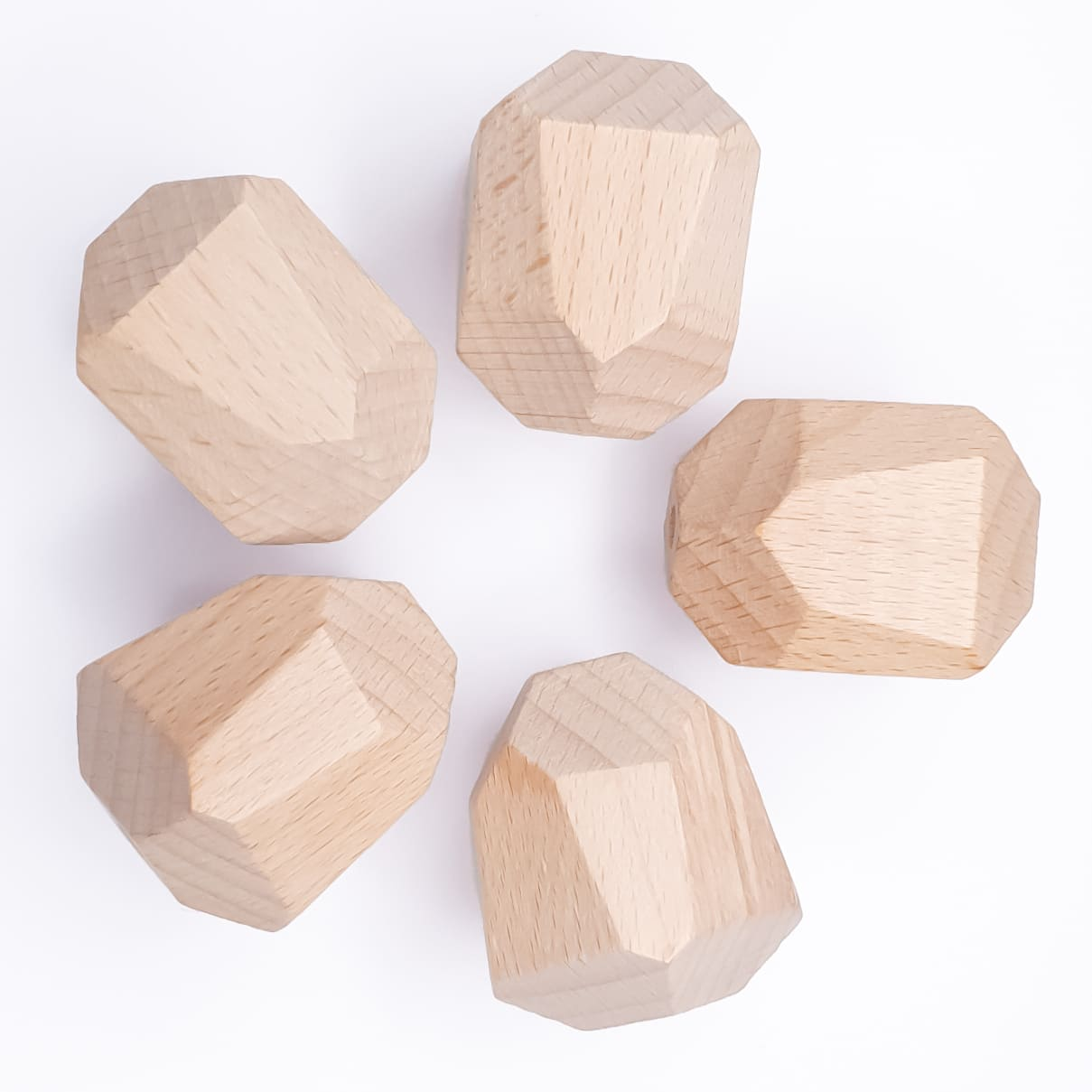 Beuken hout kraal rotsblok 20 x 30 mm
