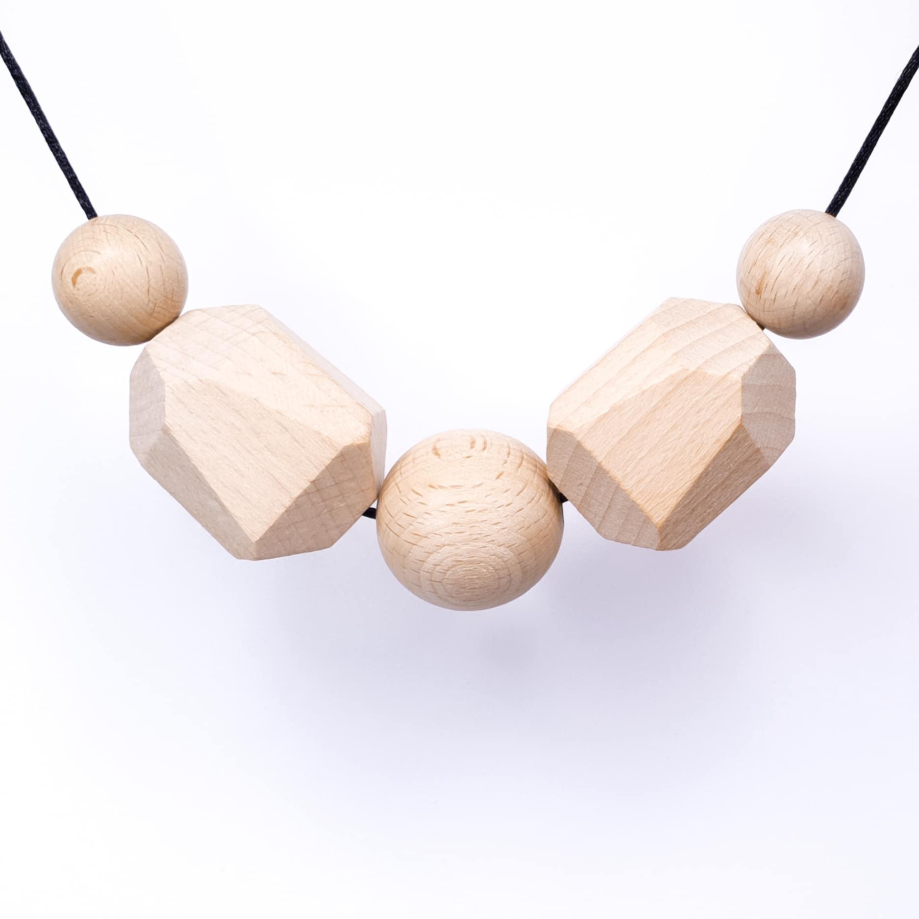 Beuken hout rotsblok borstvoedingsketting
