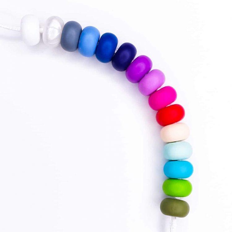 Siliconen kralen - Abacus - 14 mm