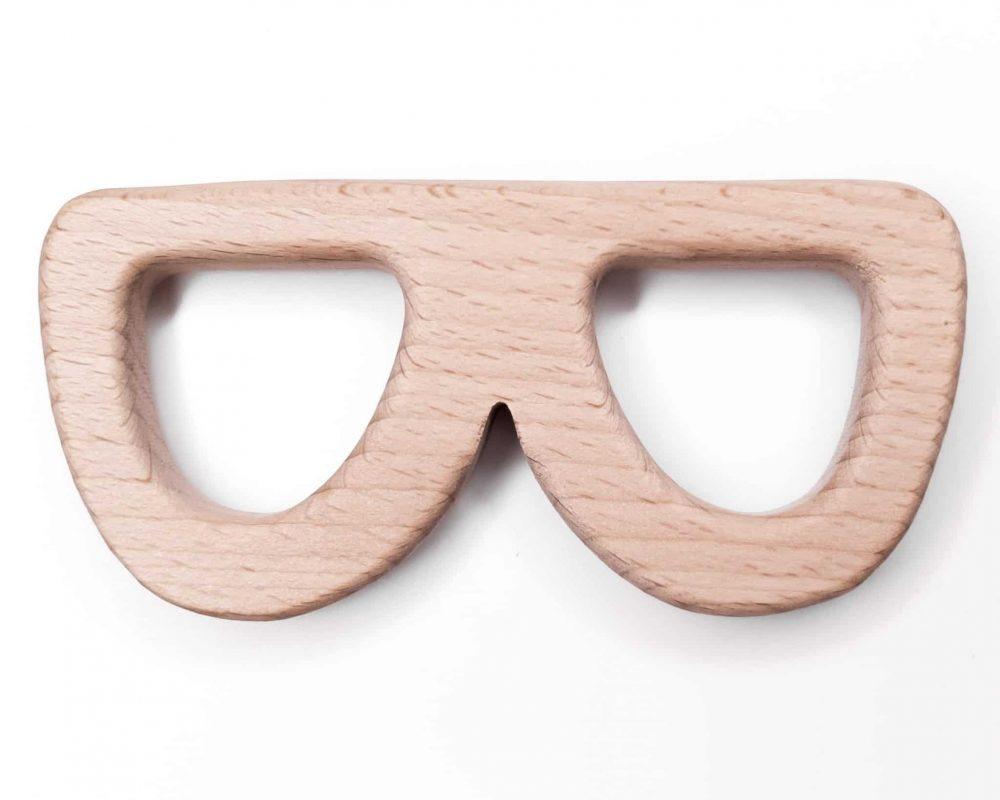 Houten bijtfiguur beuken zonnebril