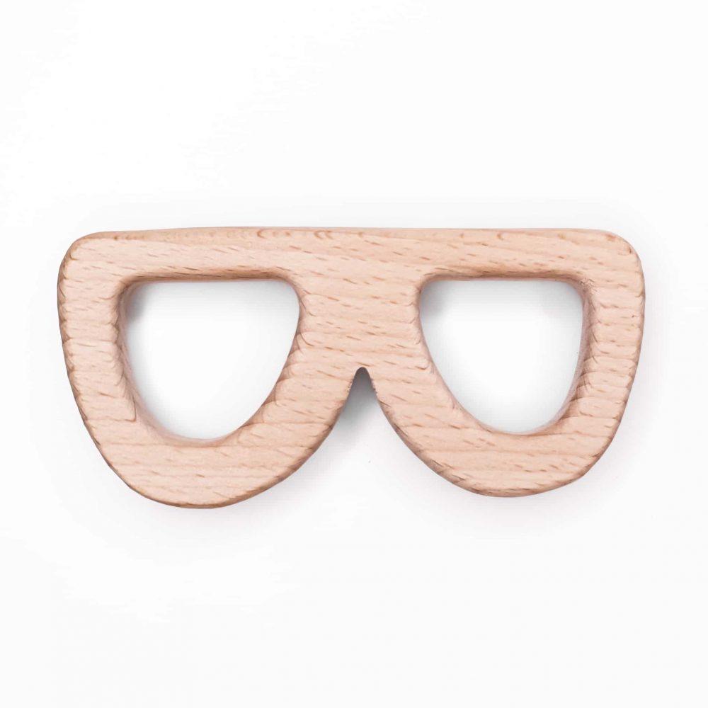 Houten bijtfiguur zonnebril baby veilig ce gecertificeerd