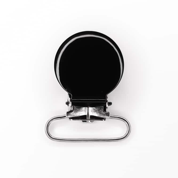 Metalen speenclips zwart lood vrij baby veilig