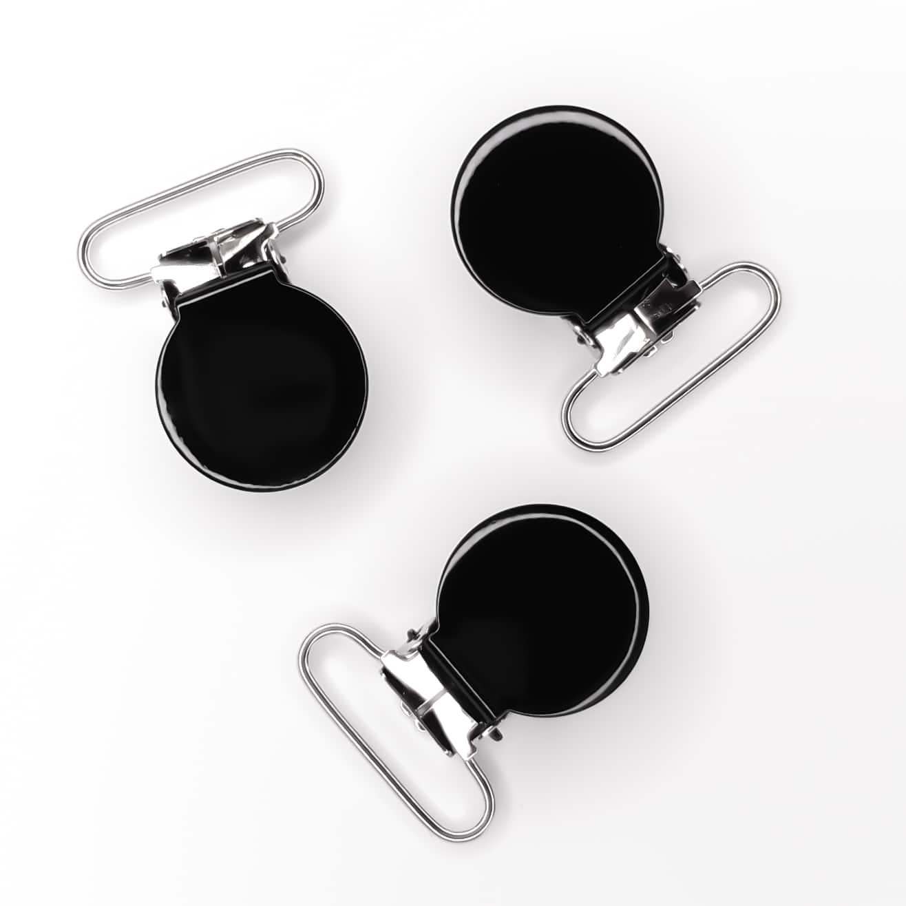Metalen speenclips zwart veilig baby lood vrij