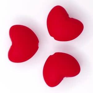 Siliconen kraal hart bpa vrij hot pepper