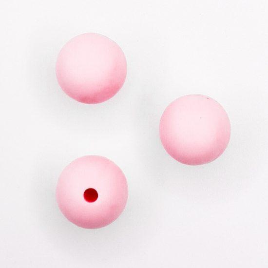 Siliconen kralen 12 mm bpa vrij baby veilig speenkoord perzik roze