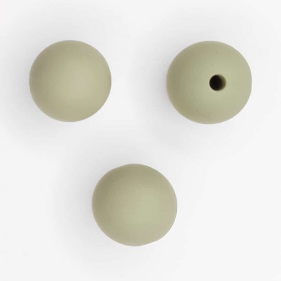 Siliconen kralen 12 mm bpa vrij baby veilig speenkoord pistache