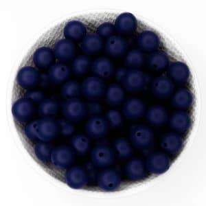 Siliconen kralen 12 mm midnight blauw bpa vrij groothandel