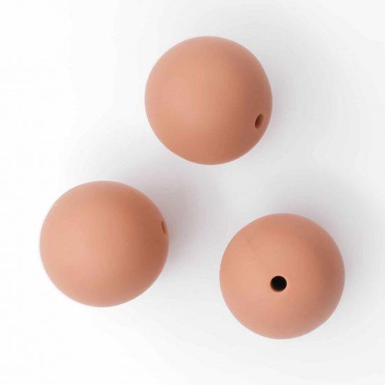 Siliconen kralen 19 mm bpa vrij baby veilig speenkoord caffè latte