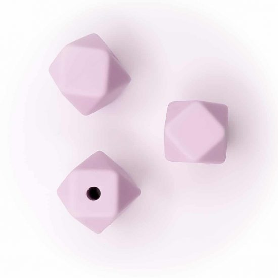 Siliconen kralen - Hexagon - 11 mm