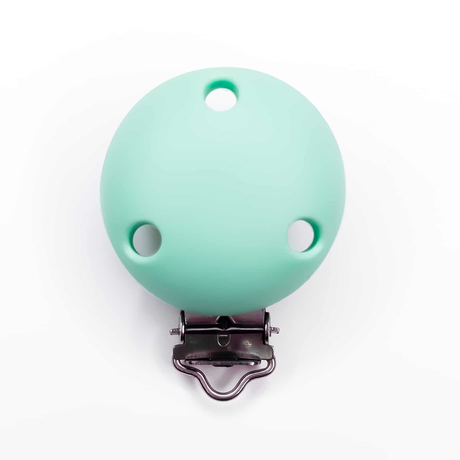 Siliconen speenclip bpa vrij mint groen baby veilig met gaatjes