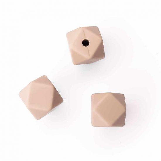 siliconen kralen hexagon 11 mm bpa vrij groothandel zand