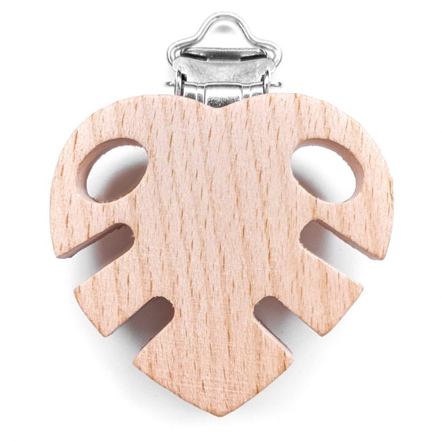 houten speenclip blad bijpassend bijtfiguur baby veilig