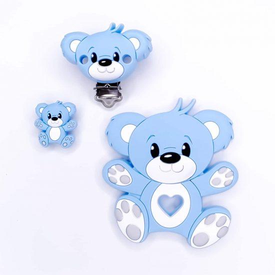speenkoord combinatie beer baby veilig blauw