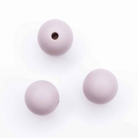 Siliconen kralen 12 mm champagne pink rosy brown