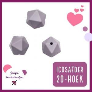 Siliconen kralen - Icosaëder / 20-hoek - 14 mm