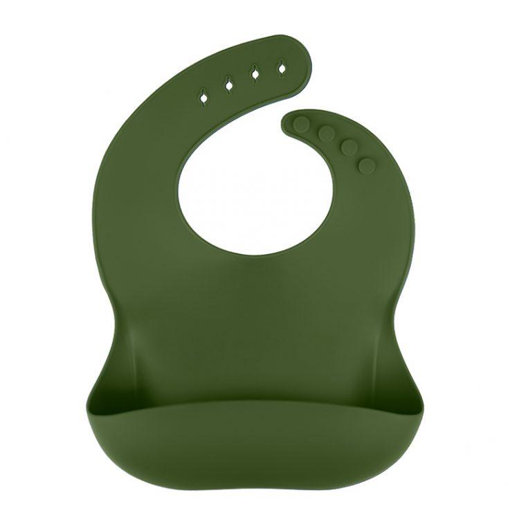 Siliconen slab bpa vrij groothandel slabben baby veilig mos groen