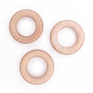 Beukenhouten ring 4,0 cm gepolijst baby veilig ce gecertificeerd groothandel