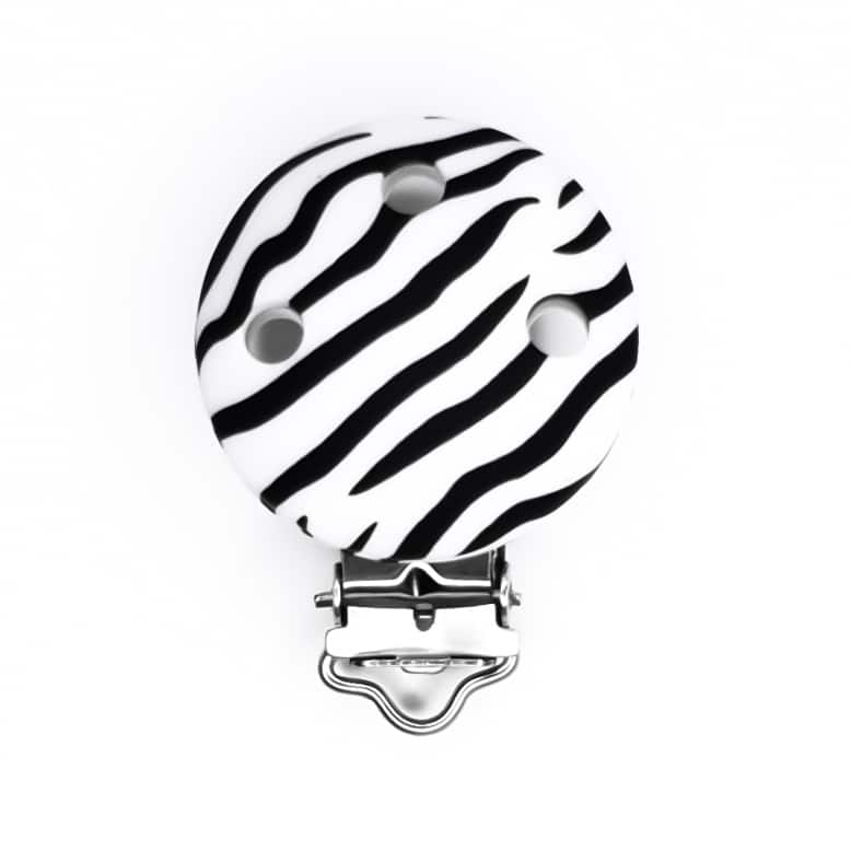 Zebra print siliconen speenclip bpa vrij groothandel baby veilig
