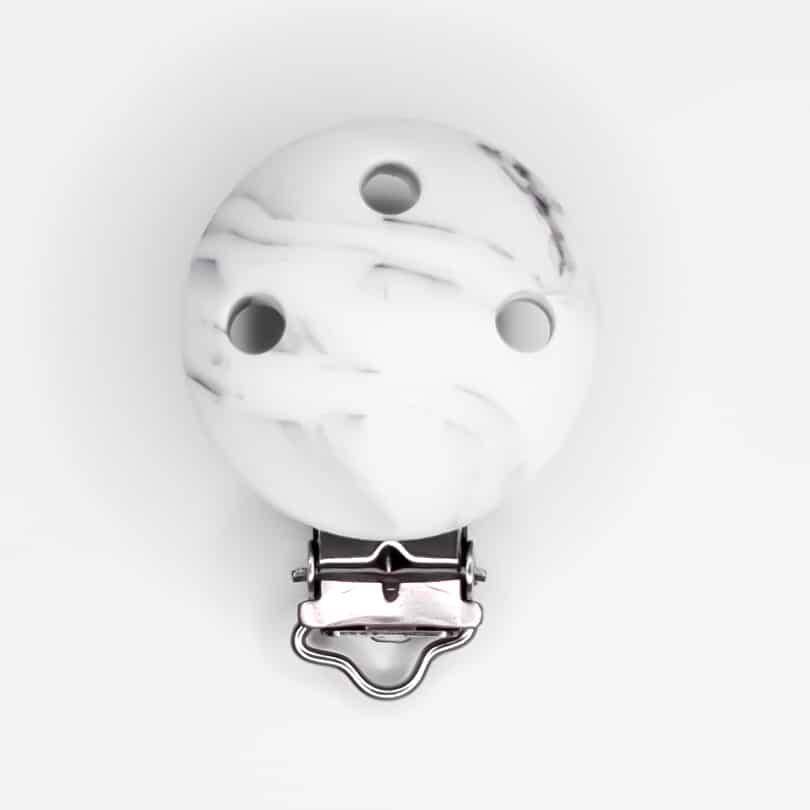 Speenclip marmer zwart wit speenkoord bpa vrij baby veilig