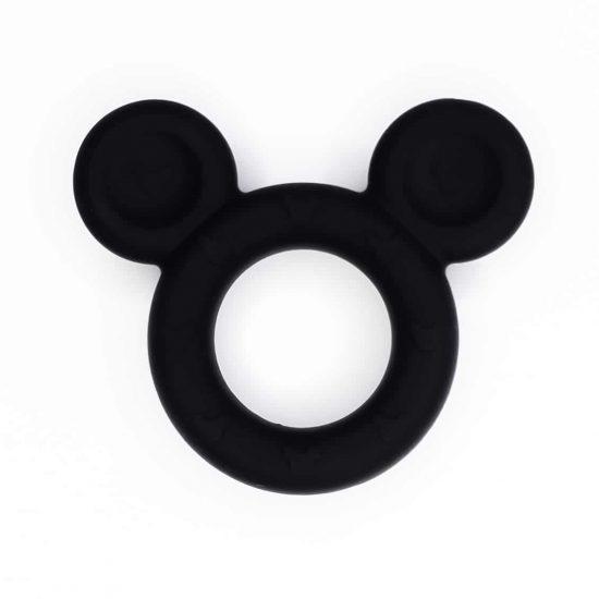 Siliconen bijtfiguur mickey mouse zwart bpa vrij groothandel baby veilig