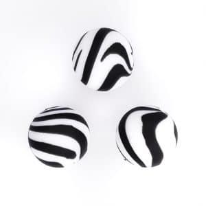 Zebra siliconen kralen 15 mm baby veilig bpa vrij vortex