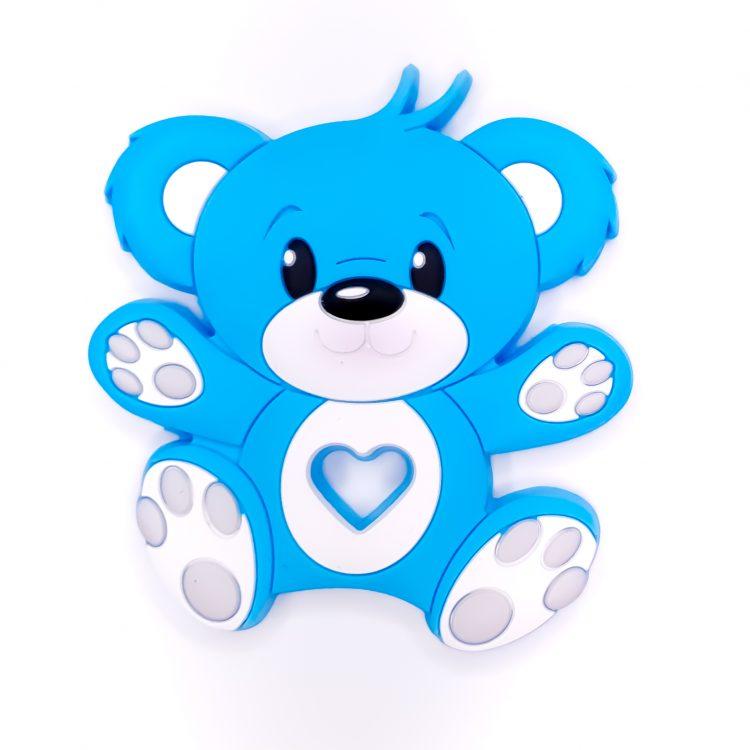Siliconen bijtfiguur beer blauw bpa vrij groothandel