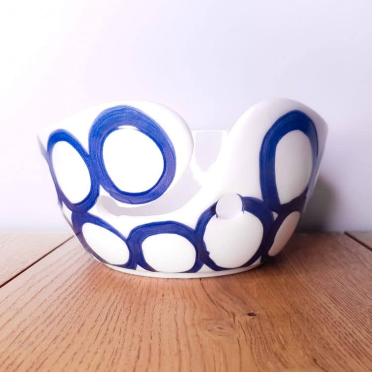 Garenkom Yarn Bowl Blauw Haken Breien Bubbel