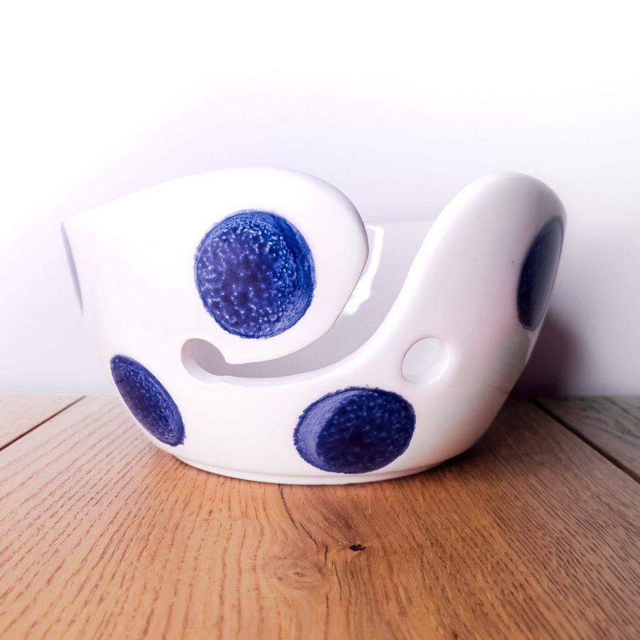 Garenkom Yarn Bowl Blauw Haken Breien Stippel
