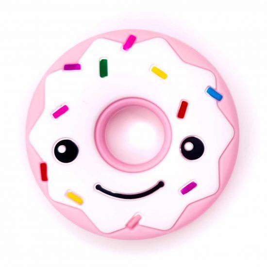 Bijtfiguur siliconen donut bpa vrij baby veilig groothandel baby roze