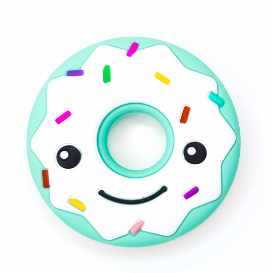Bijtfiguur siliconen donut bpa vrij baby veilig groothandel mint groen