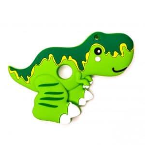 Siliconen bijtfiguur t-rex groen bpa vrij baby veilig groothandel