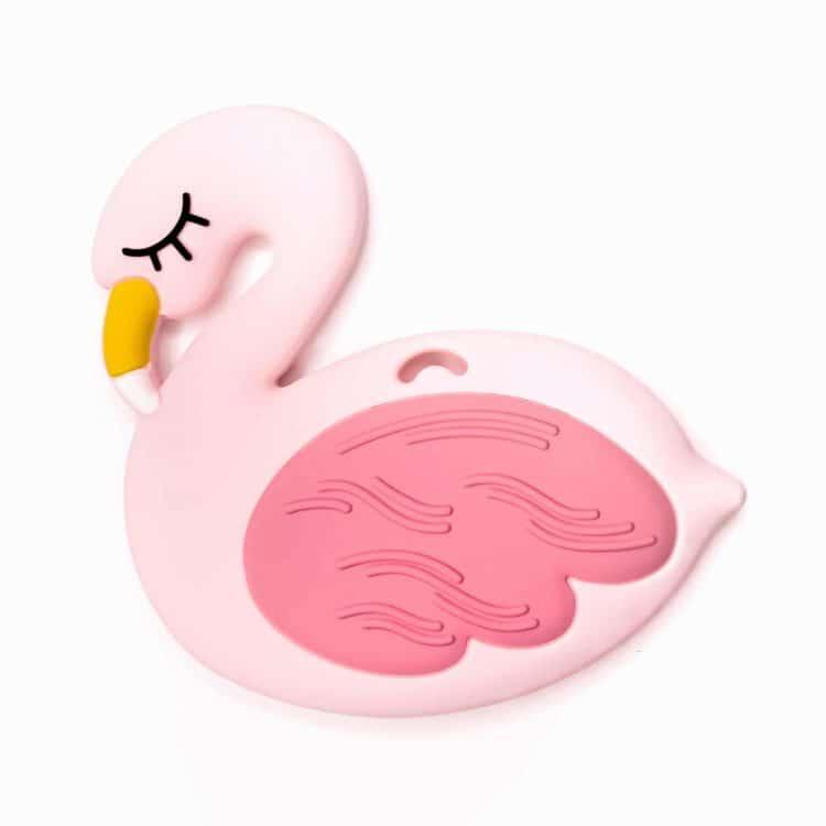 Siliconen bijtfiguur flamingo roze bpa vrij baby veilig groothandel