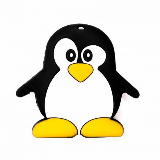 Siliconen bijtfiguur pinguin bpa vrij baby veilig groothandel