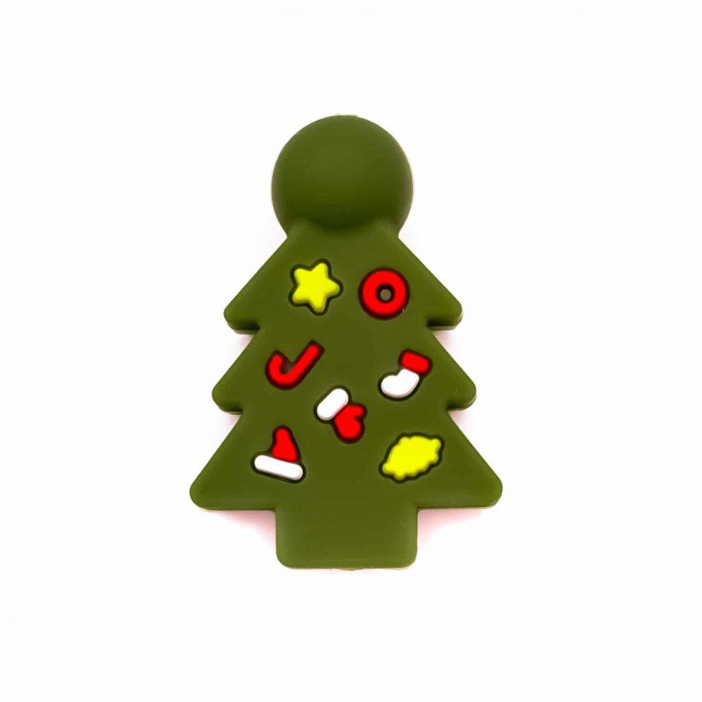 Siliconen kralen kerstboom mos groen vrij baby veilig groothandel