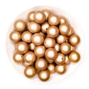 Siliconen kralen 16 mm rond gouden nugget goud print bpa vrij groothandel
