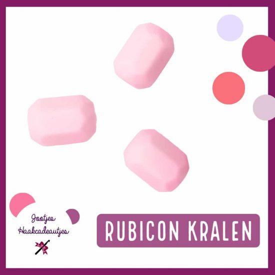 Siliconen Kralen - Rubicon / Geometrisch - 14 x 18 mm