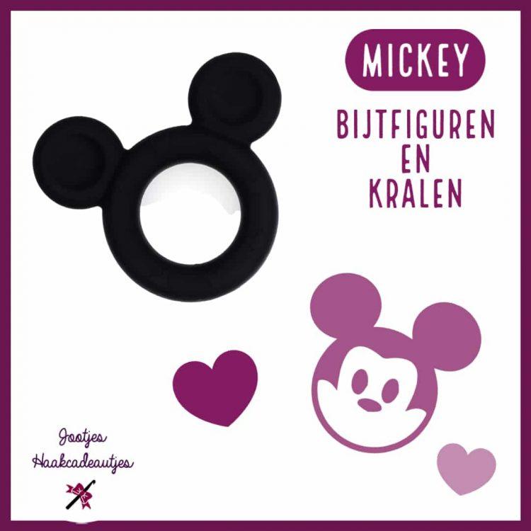 Mickey - Siliconen Bijtfiguren en Kralen in 20 mm en 16 mm