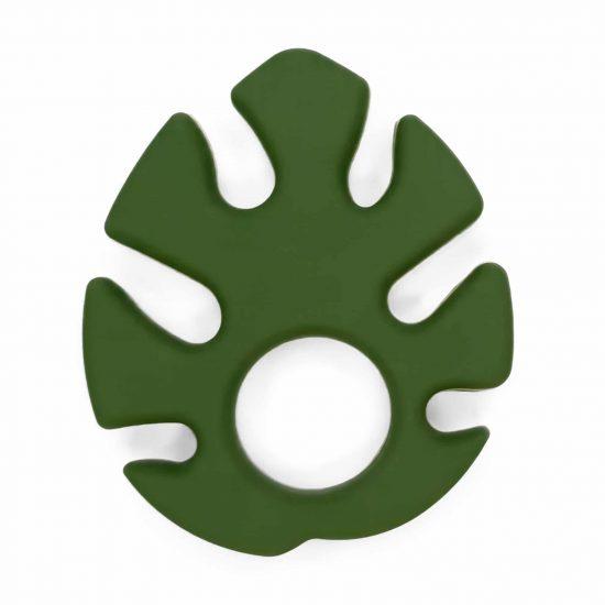 Monstera blad Siliconen bijtspeeltje bijtfiguur bpa vrij groothandel baby mos groen