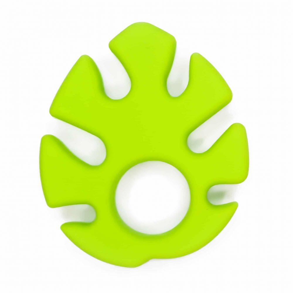 Monstera blad Siliconen bijtspeeltje bijtfiguur bpa vrij groothandel baby fel groen