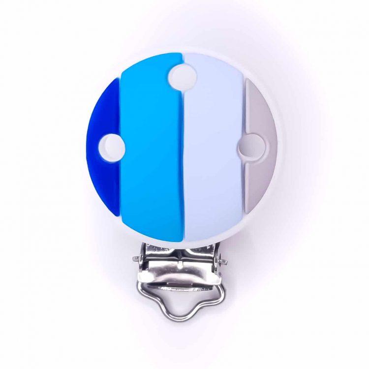 Speenclip regenboog siliconen speenkoord groothandel bpa vrij Koningsblauw